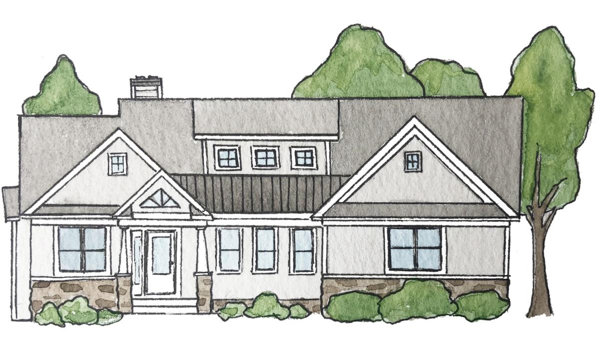 The Miller Floor Plan of Precision Custom Home Builders