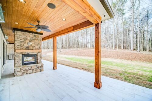 09 Nolan Back Fireplace- New Single Family Home Custom Construction North West Georgia