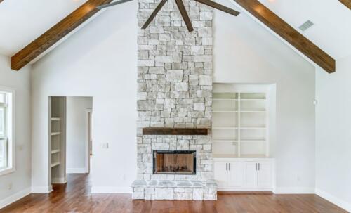 02 Hawkins Fireplace - New Single Family Home Custom Construction North West Georgia