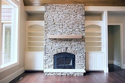 06 Matthews Fireplace - New Single Family Home Custom Construction North West Georgia