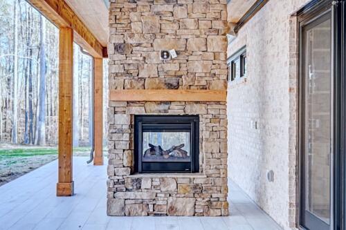 07 Nolan Deck Fireplace - New Single Family Home Custom Construction North West Georgia