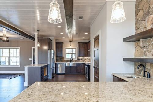 07 Elsberry Kitchen View - New Home Construction with Elegant Custom Kitchens