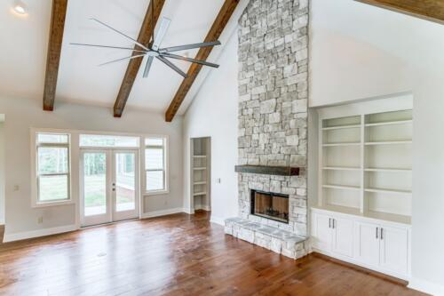 06 Hawkins Living Room Fireplace - New Single Family Home Construction