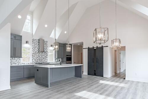 03 Mullen Open Kitchen - New Single Family Home Custom Construction