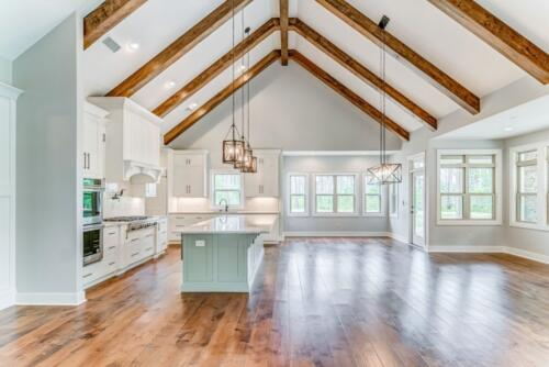 04 Hawkins Open Kitchen - New Single Family Home Custom Construction