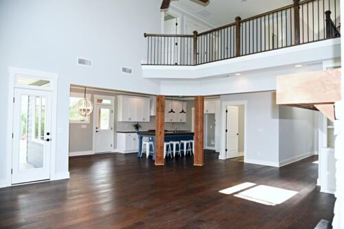 07 Brown Open Living and Kitchen - New Single Family Home Custom Construction