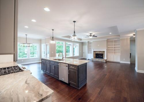 09 D. Snider Kitchen and Main - New Single Family Home Custom Construction