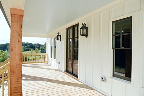 01 Boyce Front Deck - New Single Family Home Custom Construction