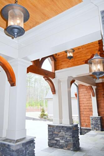 03 Oswald Front Porch - New Single Family Home Custom Construction