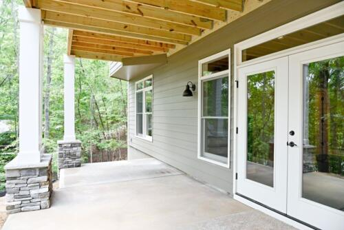 05 Fraser Back Deck - New Single Family Home Custom Construction