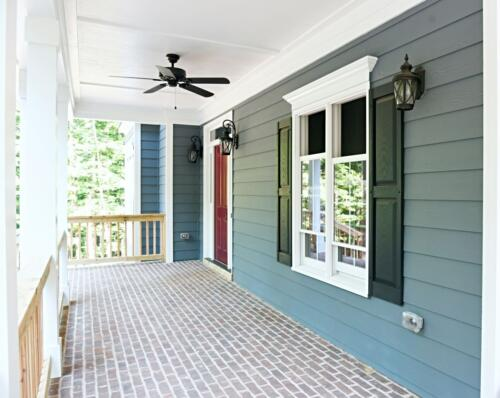 09 Carrigan Porch - New Single Family Home Custom Construction