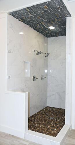 07 Brown Shower 1 - New Single Family Home Custom Construction