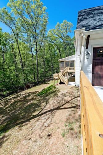 deck side - New Single Family Custom Home Construction